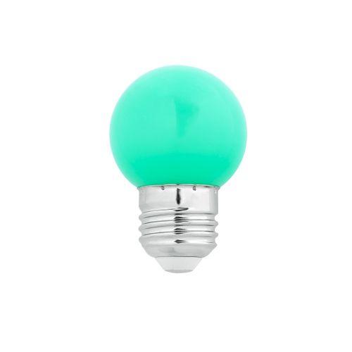G45 LED E27 1W VERDE
