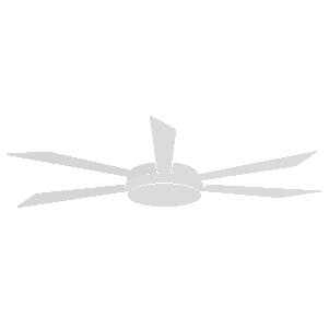 KAMET Ventilador de techo blanco